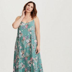 Torrid Floral Challis Trapeze Maxi Dress size 3X